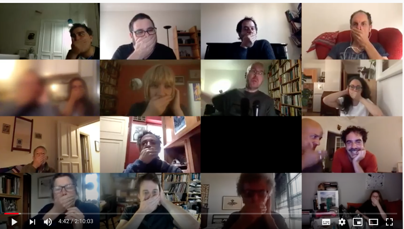 """Presentation, Talk & collective """"Impro at Language is a virus"""" Zoom Session"""